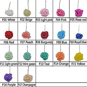 10 Heads 8Cm Pretty Charming Artificial Flowers Pe Foam Rose Flowers Bride Bouquet Home Wedding Decor Scrapbooking DIY Supplies 7