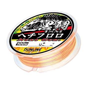 サンライン 黒鯛イズム へち フロロ NextGen 100m 2.5号 クリア&オレンジ&イエローGの画像