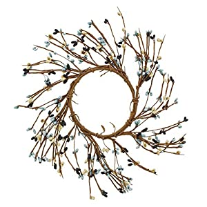 "KMJ Mixed Berries & Twigs Table Wreath/Candle Ring, 7"" 110"