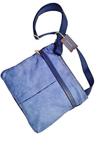 Borbonese , Sac bandoulière pour femme bleu bleu
