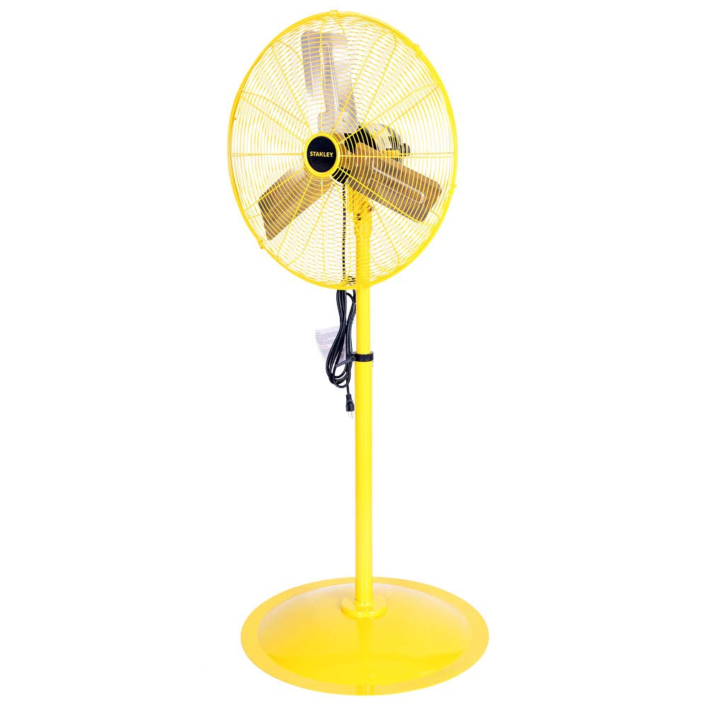 STANLEY ST-24P High Velocity Pedestal Fan 24 Yellow, Black