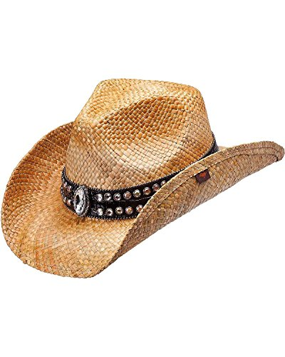 Peter Grimm Ltd Women's Fuller Bling Marquis Straw Cowgirl Hat Brown One Size