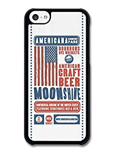 MMZ DIY PHONE CASECool American Craft Beer Moonshine Poster Design case for iphone 5c