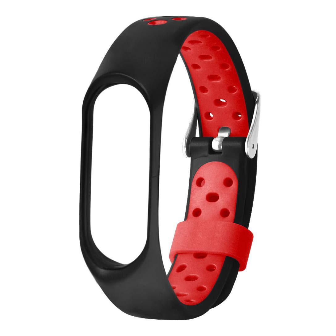 Transer Armband Für Xiaomi Mi Band 3 /Armband Ersatz lüften Sport Soft Handschlaufe Armband mit Schnalle Pore (Gray) Transer® W987049680