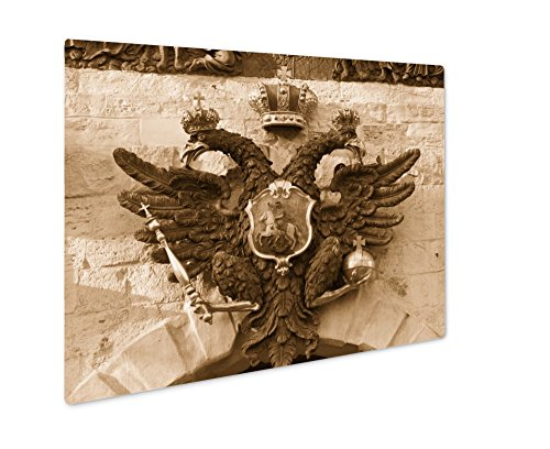 Clutch Ashley (Ashley Giclee The Coat Of Arms Of Russian Empire, Wall Art Photo Print On Metal Panel, Sepia, 24x30, Floating Frame, AG6119116)