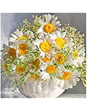 Decdeal DIY 5D Diamond Painting Orange Bunch Flowers Rhinestone Embroidery Full Drill Gem Pictures Wall Art Craft and Home Decoration