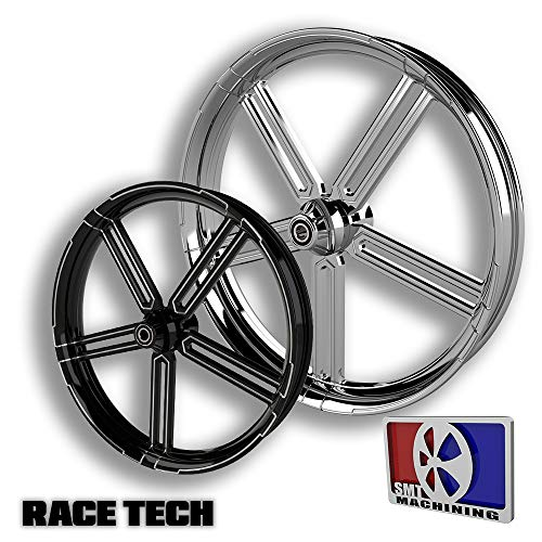 SMT Machining 30 Black Contrast Cut Race Tech Wheel 2008-2018 Harley Bagger Models 11.8