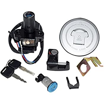 Motorcycle Ignition Switch Kit with Keys Fuel Gas Cap Seat Lock Helmet Locks Set Assembly For Honda 250 250R 400 600 954 Cb St VFR