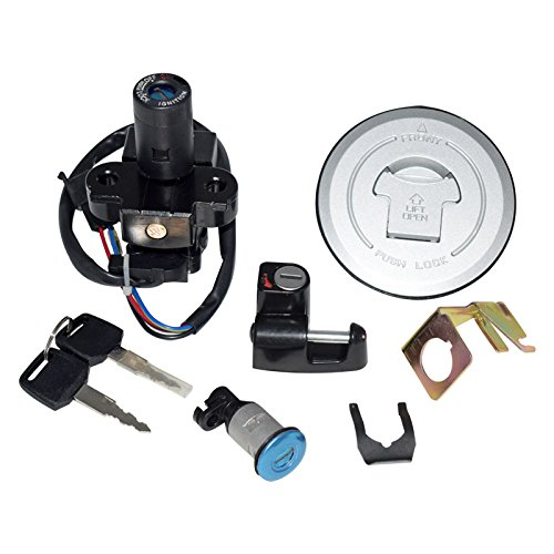 Motorcycle Ignition Switch Kit with Keys Fuel Gas Cap Seat Lock Helmet Locks Set Assembly For Honda 250 250R 400 600 954 Cb St VFR Feiteplus FP-1591
