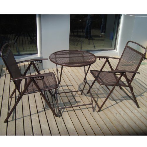 BenefitUSA S-405-COFFEE Patio Table and Chair Set, -