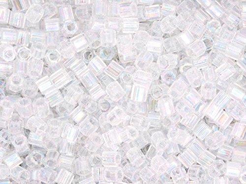 Miyuki Delica Hex Cut Seed Beads 8/0 DBLH0051 CRYSTAL AB 50 -