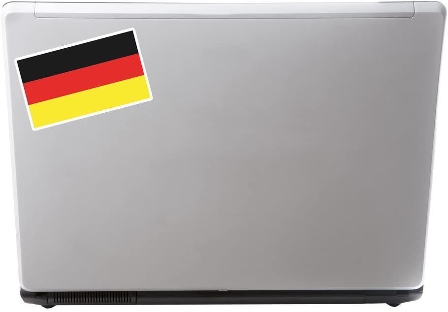 2 x German Flag Vinyl Sticker Laptop Travel Luggage Car #5262
