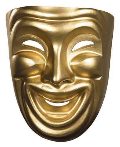 Disguise Costumes Gold Comedy Mask, (Comedia De Costumes)