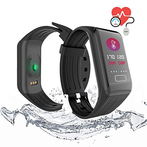 QIANXIANG Waterproof Sport Tracker/Fitness Tracker Band with Activity Heart Rate and Sleep Monitor, Blood Oxygen &Pressure Monitor,Step Calorie Counter Wristband Color smart watch for Android and iOS