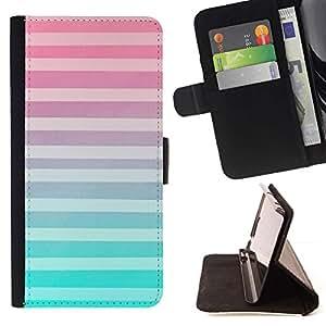 Momo Phone Case / Flip Funda de Cuero Case Cover - White Lines Modelo rosado abstracto - LG Nexus 5 D820 D821