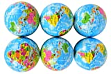 Planet Of Toys Set Of 12 Hop Balls - Globe Design For Kids / Children