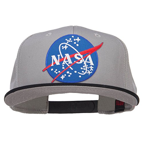 Snap Tone Two (E4hats Lunar NASA Patched Two Tone Snapback - Black Grey OSFM)