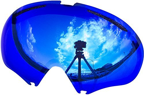 Zero Replacement Lenses For Oakley A Frame2.0 Snow Goggle Blue Mirror by - Lenses Oakley A Frame Replacement