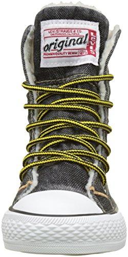 Levis Jungen Original NBA Hi Hohe Sneaker Noir (Black Denim)