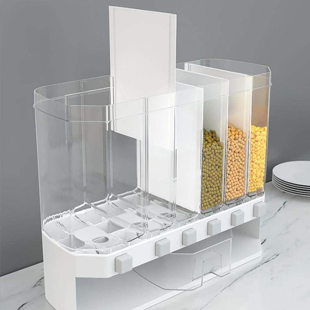 S/ü/ßIgkeiten Vcedas M/üslispender Cerealienspender Getreide Lagerung Tank Multi F/ächer Automatische Dosierung Lagerung Box Reis Eimer Barrel M/üslidosen Lagerung Jar f/ür Getreide Bohnen