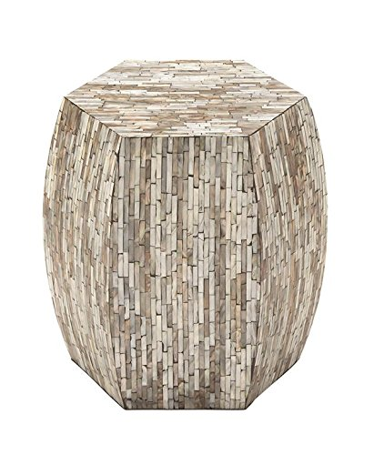 Deco 79 49096 Wood Inlay Accent Table