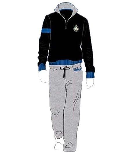 Pijama Inter para hombre algodón Felpato ropa FC Internazionale PS 14650 negro Talla única