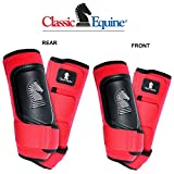4 PACK CLASSIC EQUINE CROSS FIT HORSE LEG BOOT FRONT REAR HIND RED - MEDIUM