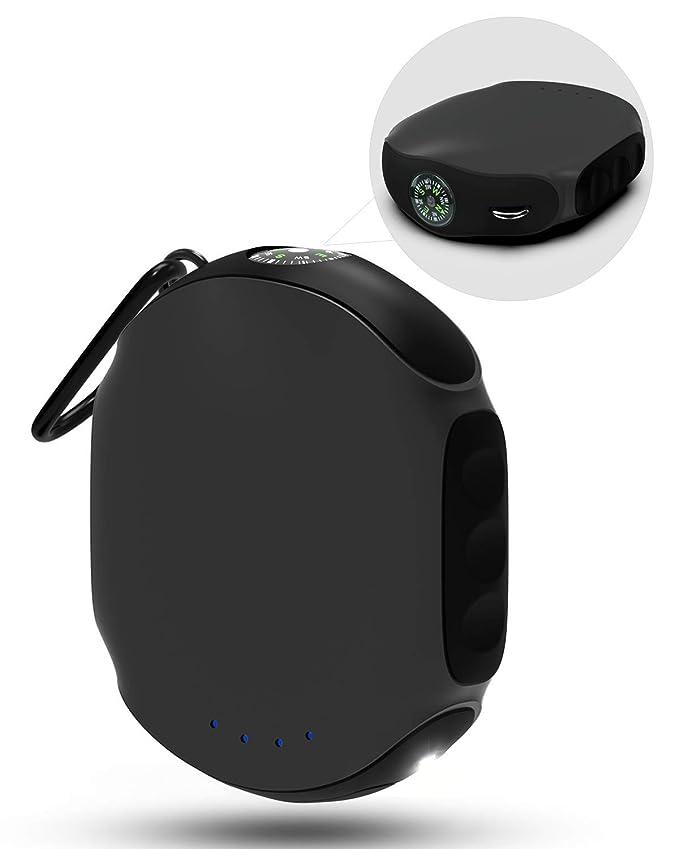 ABFOCE Batería Externa Power Bank 10000mAh Impermeable, ES360 Cargador Portátil Pequeño para Móvil Carga Rápida con Brújula y Linterna para iPhone, ...