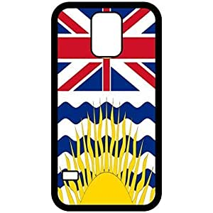 British Columbia Flag Black Samsung Galaxy S5 Cell Phone Case - Cover