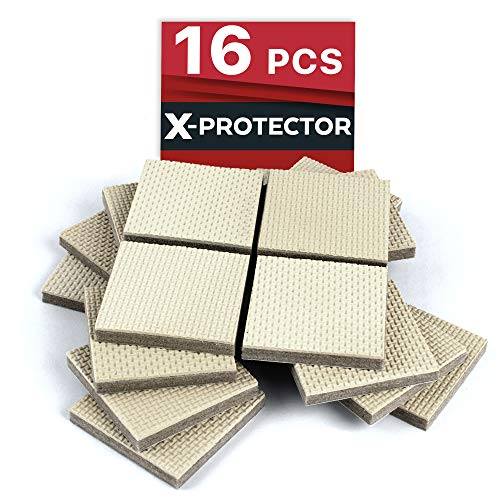 Furniture Grippers X-PROTECTOR - Premium 16 pcs 2 Non Slip Furniture Pads - Best SelfAdhesive Rubber Feet Furniture Feet - Non Skid Furniture Pad - Floor Protector for Keep in Place Furniture