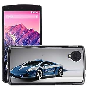 CarCase Slim Case Cover Backcover Frame Shell LG GOOGLE NEXUS 5 // 2009 lamborghini gallardo lp560 police car (1) //