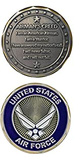 U.S. Air Force Airman's Creed Challenge Coin