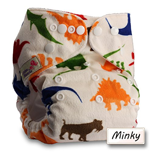 Littles /& Bloomz Patterns 310 Reusable Pocket Cloth Nappy with 6 Bamboo Inserts Set of 3 Fastener: Hook-Loop