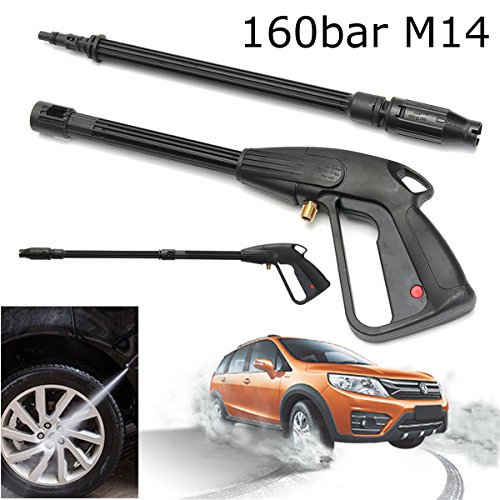 MINGOU 160 Bar M14 High Pressure Washer Spray Gun Car Wash Cleaning Lance Wand Kit