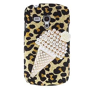 [Hellocase]Helado del diseño del modelo del caso del leopardo duro con Rhinestone para Samsung Galaxy S3 Mini i8190