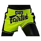 Fairtex Slim Cut Muay Thai Boxing Shorts (Green,Small)