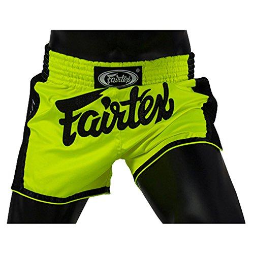 Fairtex Slim Cut Muay Thai Boxing Shorts (Green,Large)