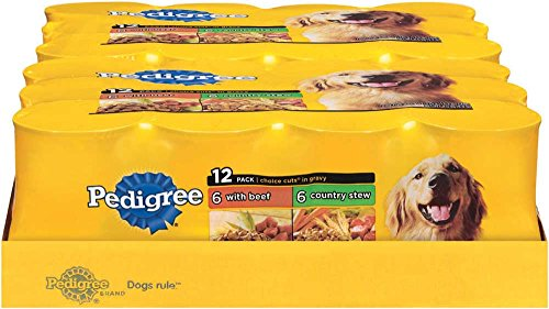 Pedigree Choice Cuts Variety Pack With Beef & Country Stew Dog Food 13.2 Ounces (Two 12-Can Cases) Review