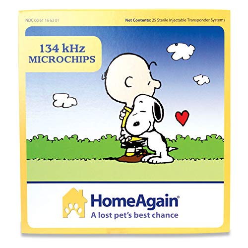 HomeAgain 134 kHz 15 digit Universal WorldChip Microchip 25pk by Microchip ID Systems