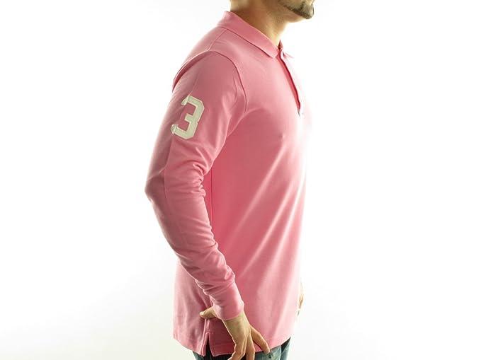 Frank Ferry-Polo de manga larga para hombre rose - blanc Talla:L ...
