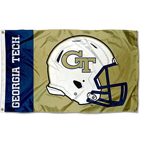 Georgia Tech Yellow Jackets Helmet - College Flags and Banners Co. Georgia Tech Yellow Jackets Football Helmet Flag