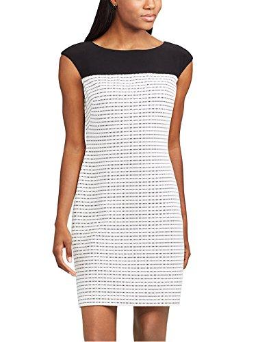 Chaps Women's Jacquard Sheath Dress, Black/White (Chaps Womens Dress)