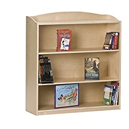 Kids Bookshelf / Bookcase 36-in Single Sided Solid Wood Kids Bookcase - 36 in x 12 in x 36 in