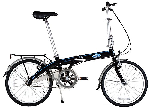 Ford by Dahon Convertible Single Speed Folding Bicycle, 20″/38″, Black For Sale