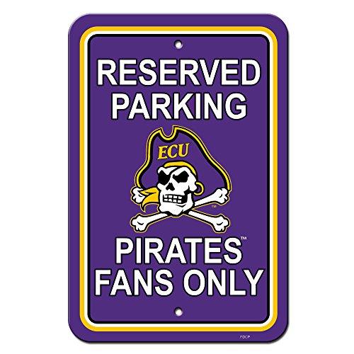(NCAA East Carolina Pirates Plastic Parking Sign, 12 x 18-Inch/Team Color)