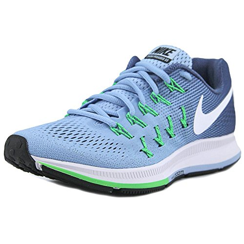 Nike Women's Air Zoom Pegasus 33 Bluecap/White Ocean Fog Rg Grn Running Shoe 8 Women US