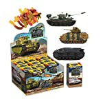 Model of Tanks sweet box gummies with 3d toy inside as super surprise eggs