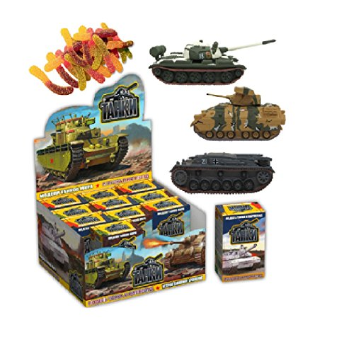 Price comparison product image Model of Tanks sweet box gummies with 3d toy inside as super surprise eggs
