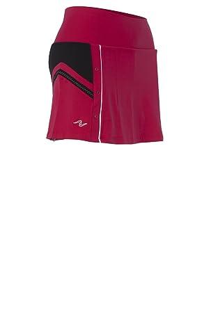 Naffta - Falda short, talla s, color borgoña / negro: Amazon.es: Deportes y aire libre