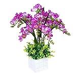 MARJON-FlowersArtificial-Bonsai-Flower-Freesia-Simulation-Plant-Decorative-Fake-Green-Suitable-for-Living-Room-Bedroom-Office-Garden-Decor